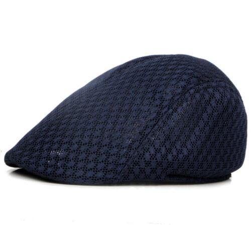 Herren Barett Hut Gatsby Schiebermütze Herringbone Cabbie Kappe Mesh Hüte Mützen
