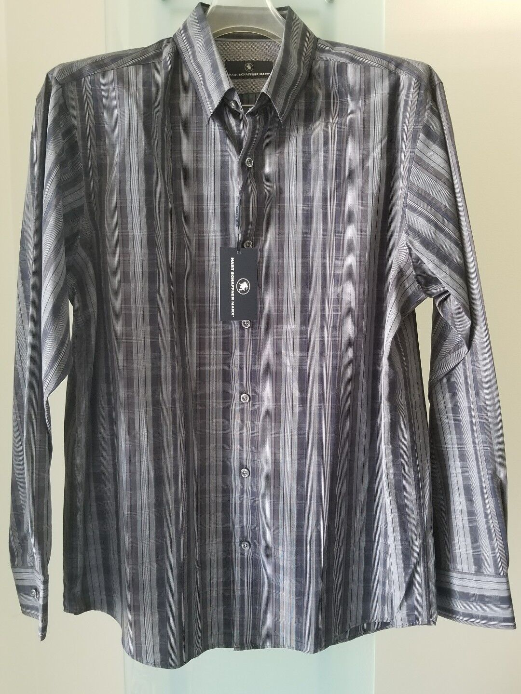 HART SCHAFFNER MARX Charcoal Dress   Casual Shirt Sz L Retail  NWT(87)