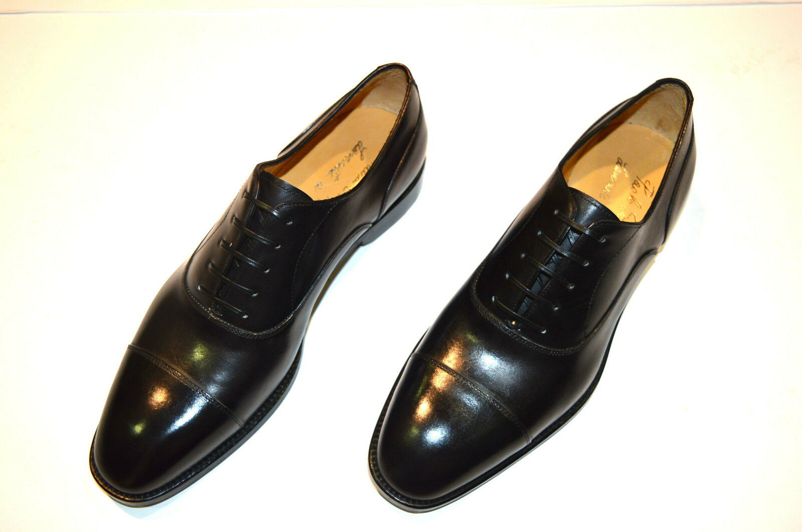 New  PAOLO SCAFORA  Dress Leather Luxury shoes Size Eu 44 Uk 10 Us 11 (Cod1)