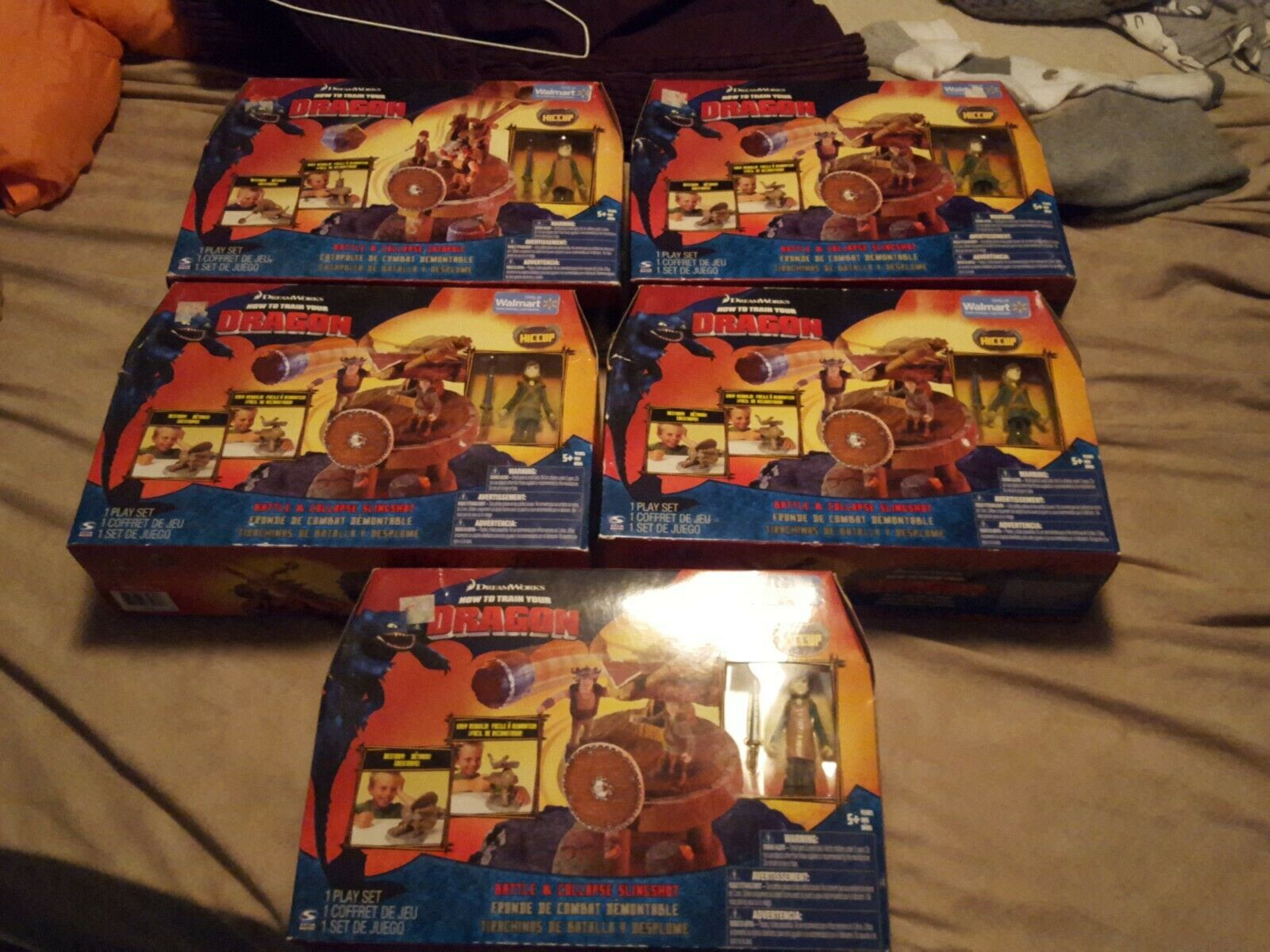 DreamWorks How To Train Your Dragon battle & Collapse Slingshot Playset lot of 5