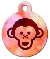 Monkey Face - Custom Personalized Pet Id Tag For Dog And Cat Collars