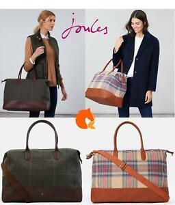 Joules-Paddington-Tweed-Holdall-Overnight-Bag