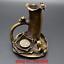 Old-China-Bronze-Frog-Lotus-Pen-container-Brush-pot-Study-Statue-Incense-burner thumbnail 1