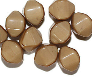 Honey-Bicone-Czech-Pressed-Glass-Beads-15mm-pack-of-10