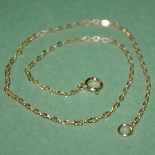 6 pieces 14kt GOLD FILLED Fine 1.5x2mm Flat CABLE Chain ANKLETS Wholesale Lot