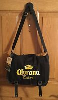 Corona Extra Yellow Embroidered Logo Black Canvas Messenger Bag By Ingear