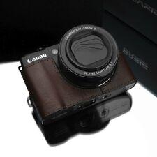 GARIZ Genuine leather case Canon G1X Mark II XS-CHG1X2BR Brown