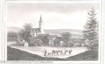 Deutzen Lithographie Aus Sachsens Kirchengalerie ( Kirchengallerie ) Um 1840 Kann Wiederholt Umgeformt Werden.