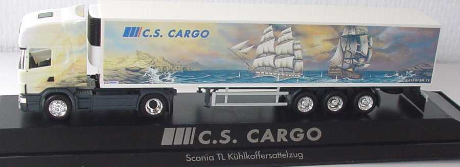 1 87 Scania R124 Topline Cold Trailer Box Cs Cargo Sailing Ships Herpa 120227