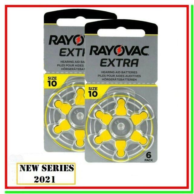 batterie per apparecchi acustici 10 rayovac extra 12 pile per protesi