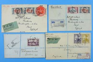 Irak-Iraq-1920-039-s-Posten-Luftpost-Briefe-aus-nach-oder-via-Bagdad-Basra-Airmail