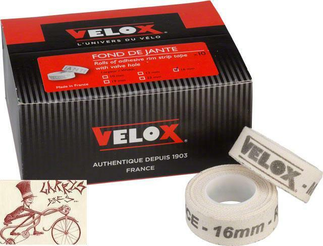 VELOX 700C X 22MM CLOTH WHITE RIM TAPE--BOX OF 10