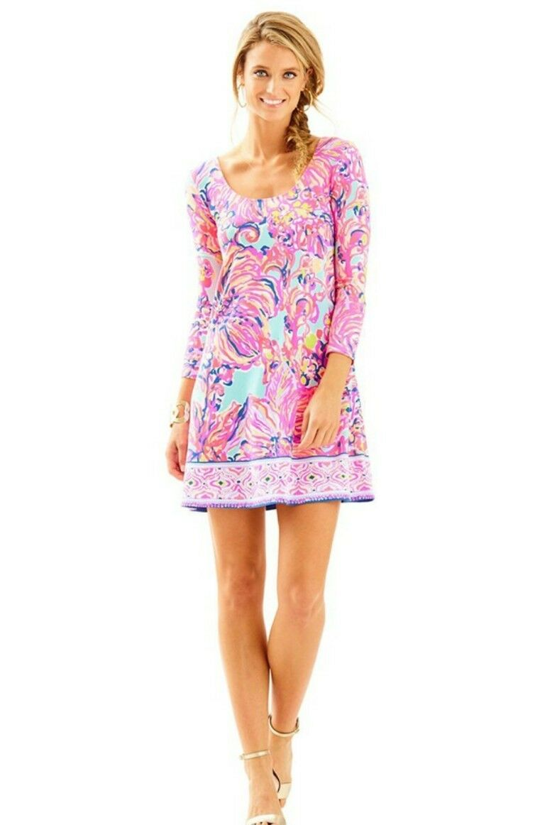 NWT Lilly Pulitzer Serene bluee Big Escapade Emma Dress SMALL  178