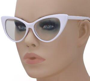 6d7afe1683d3 Fashion Design Clear Lens White Cat Eye Frame Women Eyeglasses ...
