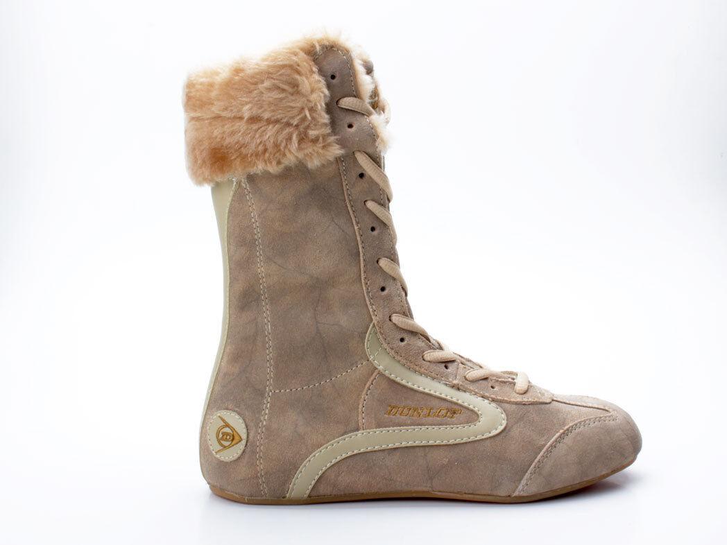 Dunlop boxing Superstar Hi oil-Suede-PVC marrón claro claro claro tan talla 37 botas de invierno  barato y de alta calidad