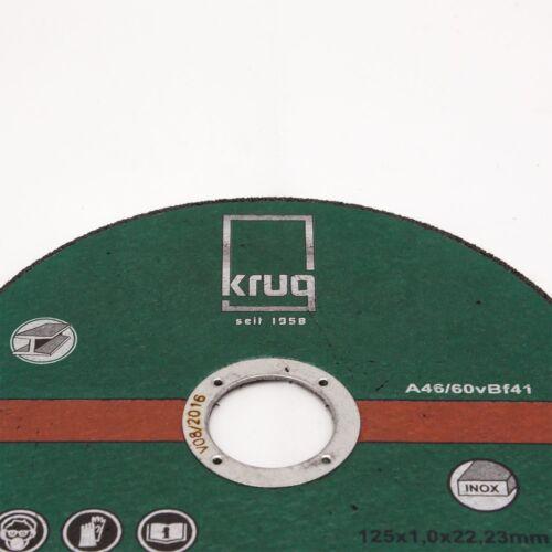 50 Stück Trennscheibe Inox C 125x1.0 mm für Edelstahl Metal Blech Eisen