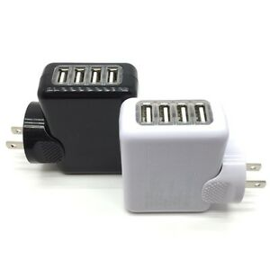4-Port-2-1A-Multi-USB-Portable-Travel-iPhone-Wall-Charger-US-Plug-Power-Adapter
