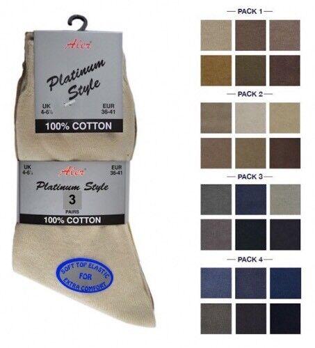 Ladies Girls Socks Aler Platinum Style 100/% Cotton Smooth Knitted Socks