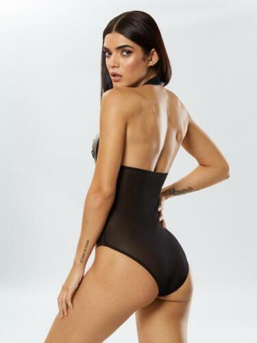 Ann Summers Unleash Me Black Wet Look Body Sz Small 8-10 *In Stock*