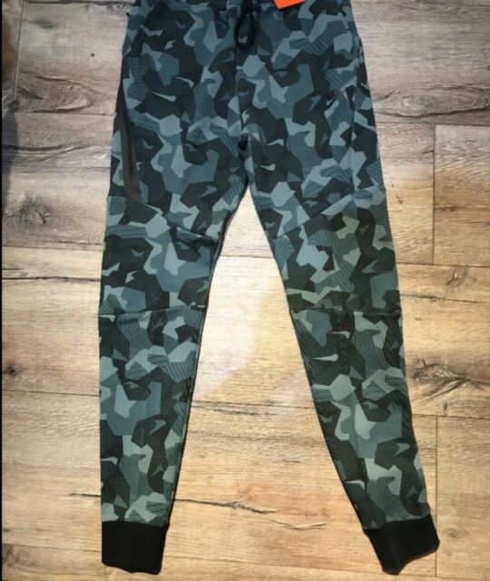NIKE TECH FLEECE MENS CAMO PANTS JOGGERS CUFFED OBSIDIAN BLUE Xxl Great Cond 2XL