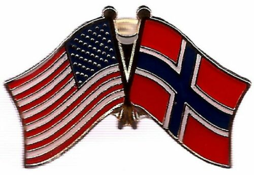USA American Norway Friendship Friendship Flag Motorcycle Hat Cap lapel Pin