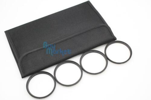 New 58mm Star 4X 6X 8X 4pcs TRACKING NUMBER UV Filter Kit Set with CASE