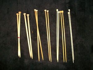 Pair-of-10-034-12-034-OR-14-034-BAMBOO-KNITTING-NEEDLES-Used-Size-00-TO-13-FREEPOST-UK