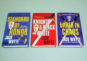 3-HC-Books-Jack-Whyte-KNIGHTS-TEMPLAR-TRILOGY-Secret-Society-Brotherhood-Sion