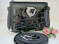 Brighton later Gator Black Leather Medium Wallet/mini Bag (msr$100)