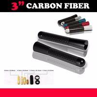 Universal 3 Inch Black Aluminum Carbon Fiber Short Radio Antenna Screw Car