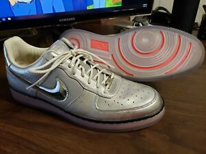 Details about Nike Air Force 1 Downtown Size 12 RARE Silver Metallic