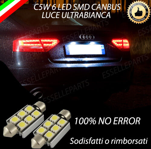 COPPIA LUCI TARGA 6 LED PER AUDI A5 SPORTBACK CANBUS NUOVOMODELLO 100% NO AVARIA