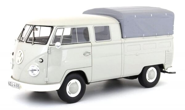 Vw T1 doppelkabine mit plane (grey) 1960 double cabin with cover (light grey)