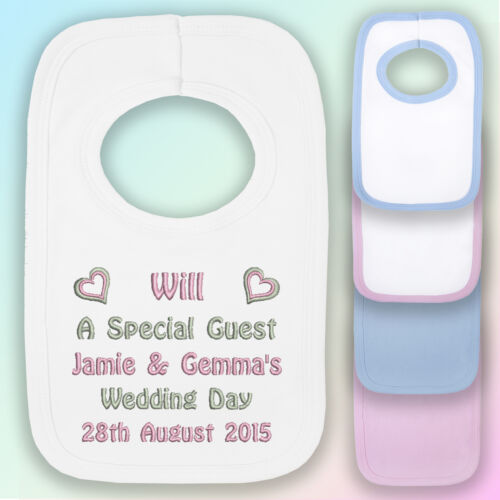Special Guest Embroidered Baby Pull-Over Bib Gift Personalised Wedding
