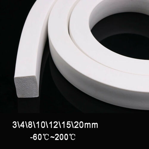 Quadrat Silikon Dichtung Moosgummischnur Dichtgummischnur Silikondichtung Weiß