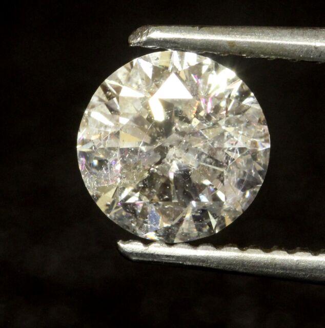 loose clarity enhanced 1.01ct I1 I round diamond vintage estate antique