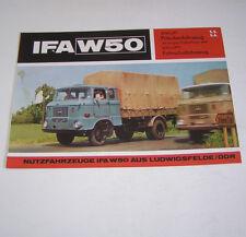 Prospekt / Broschüre DDR LKW IFA W 50 L/FPS Fahrschulfahrzeug - Stand 1972!