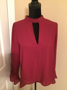 NWT-Romeo-amp-Juliet-Couture-Long-Sleeve-MEDIUM-Top-MSRP-108