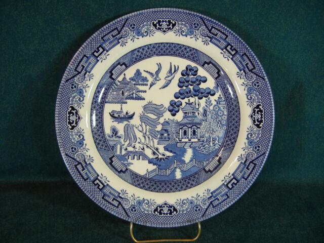 Churchill China Willow Blue Dinner Plate(s) England & Churchill China Willow Blue Dinner Plate(s) England | eBay