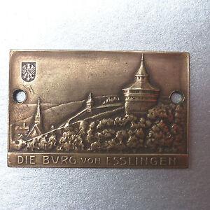 Die Burg Von Esslingen Otto Beh Analytisch Plakette Medaille Gaulange Strecke 1930