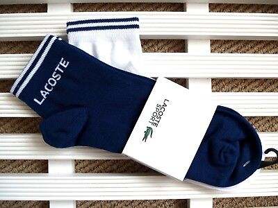 one sizes mens 7-11 Lacoste Low Cut Socks in White Triple Pack cotton