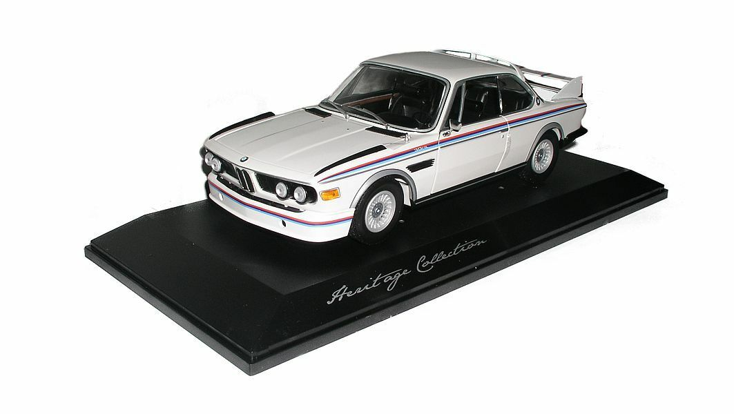 Original BMW e9 3.0 CSL (1971) Heritage Collection Maquette  De Voiture Miniature 1 18 Blanc  distribution globale