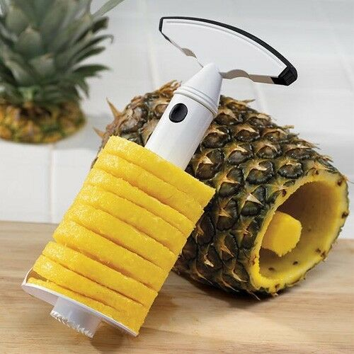 Pineapple Slicer - Core, Peel and Slice in one single operation!