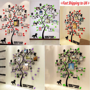 3d Photo Frame Family Tree Wall Decal Stickers Living Room Bedroom