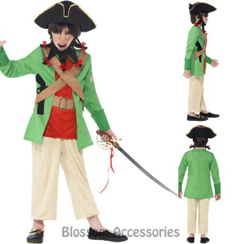 CK742 Horrible Histories Blackbeard Pirate Boys Book Week Fancy Dress Up Costume