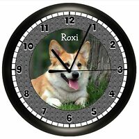 Pembroke Welsh Corgi Wall Clock Personalized Gift Dog Pet Vet Name
