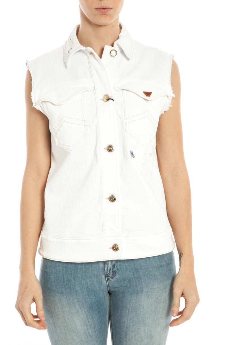 Gilet Armani Jeans AJ Gilet Sweat Cotone MADE IN ITALY  Herren Bianco A5Q041B 1