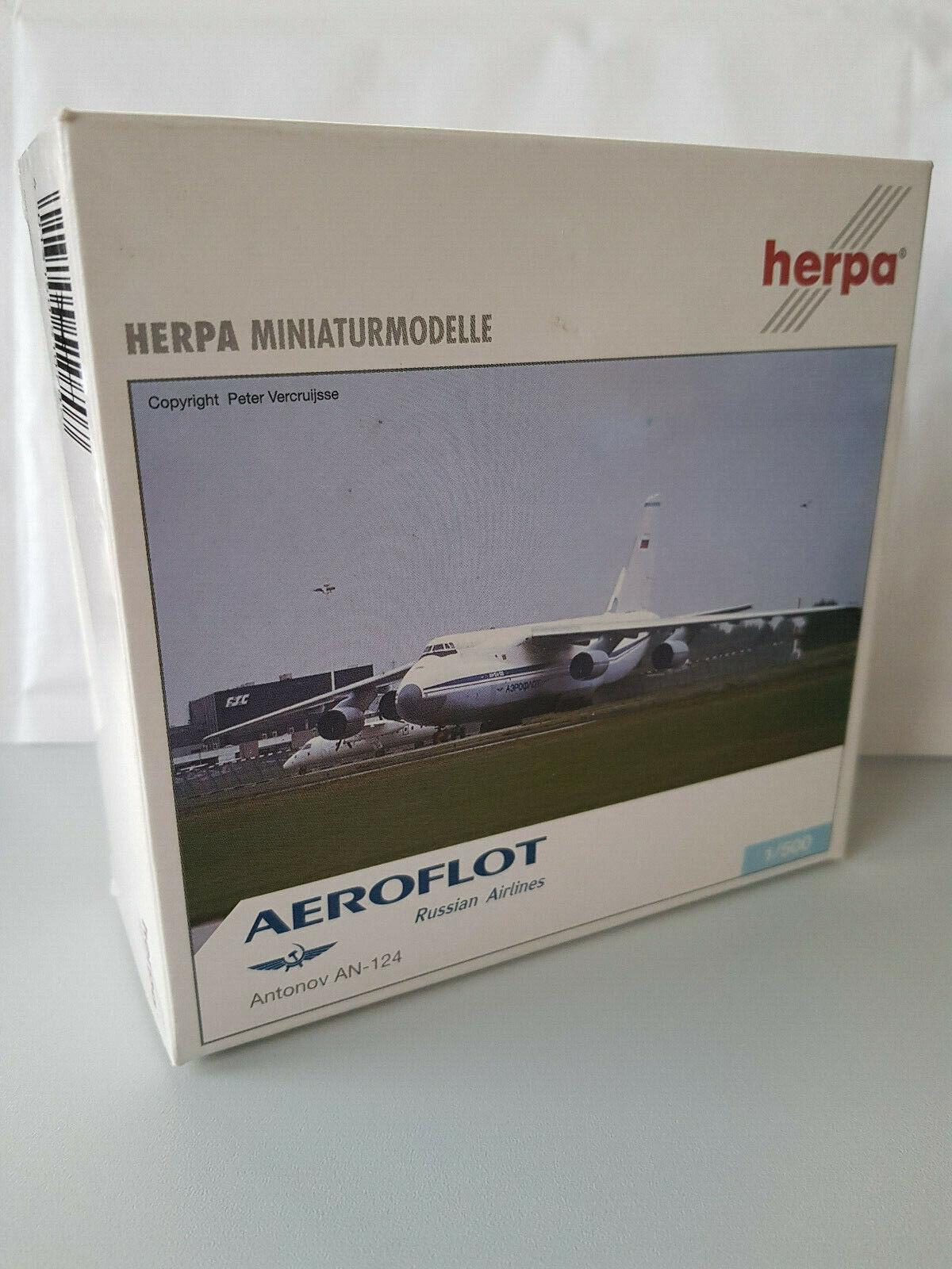 1 500 Herpa Wings 510707 510707 510707 Aeroflot Antonov an-124 with registration, NUOVO & OVP 109414