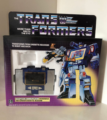Transformers G1 DECEPTICON COMMUNICATOR SOUNDWAVE  ACTION FIGURE Without tape