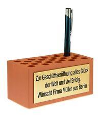 Ziegelstein / Grundstein mit Wunschtext als Werbegeschenk / Firmenpräsent Gravur